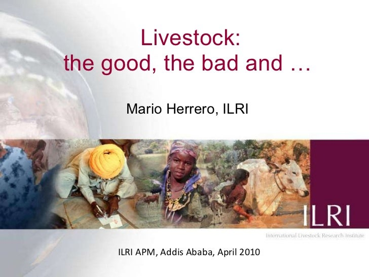 Livestock: the good, the bad and … Mario Herrero, ILRI ILRI APM, Addis Ababa, April 2010