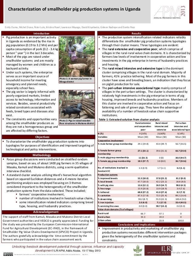 Rural extensiveand cooperative-poorRural mixedintensive andextensivePeri-urbanintensive andassociational typeN (%) 9 (26%)...