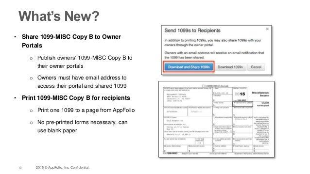 Appfolio 1099s For 2015