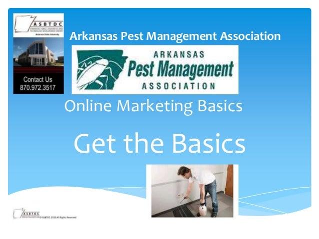 Online Marketing Basics Get the Basics Arkansas Pest Management Association