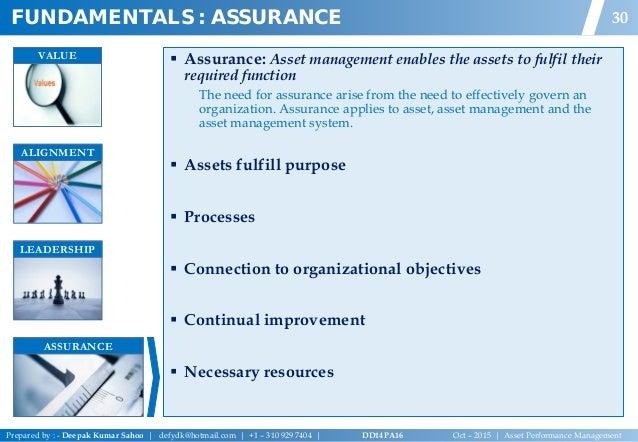 Asset performance managementdeepak sahoov02 asset performance management 31 fundamentals assurance 30 value fandeluxe Image collections