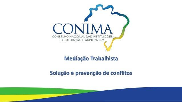 Mediação Trabalhista Solução e prevenção de conflitos