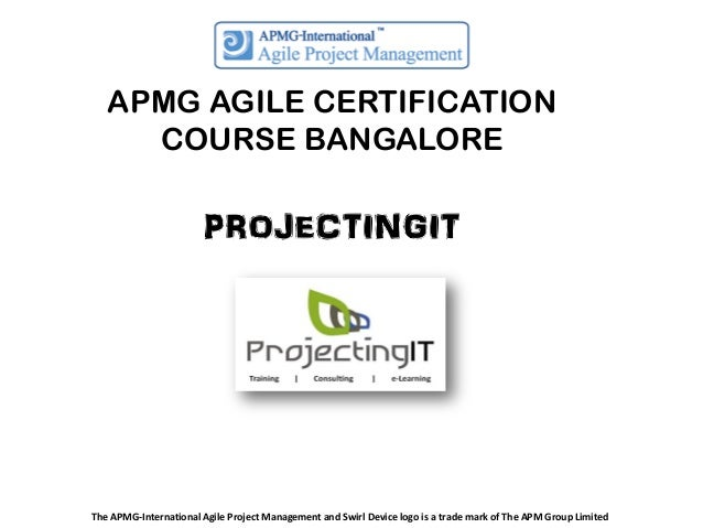 APMG AGILE CERTIFICATION COURSE BANGALORE  PROJECTINGIT  The APMG-International Agile Project Management and Swirl Device ...