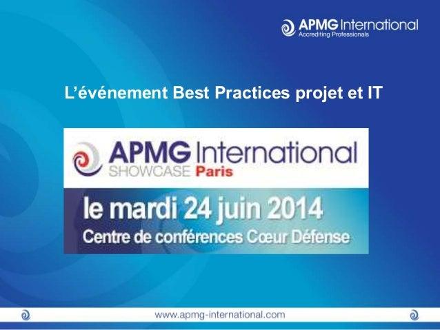 L'événement Best Practices projet et IT