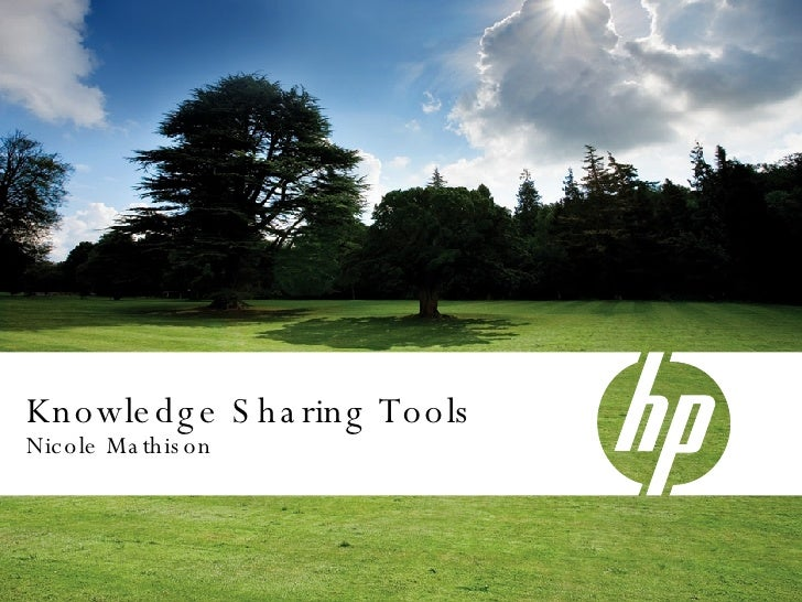 Knowledge Sharing Tools Nicole Mathison