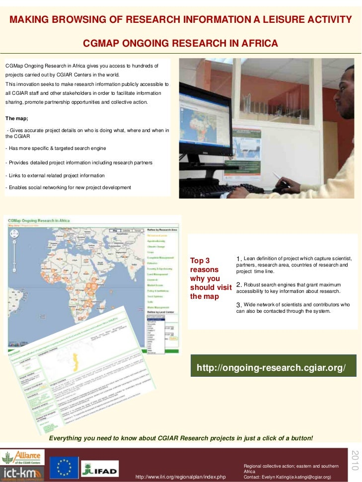 MAKING BROWSING OF RESEARCH INFORMATION A LEISURE ACTIVITY                                      CGMAP ONGOING RESEARCH IN ...