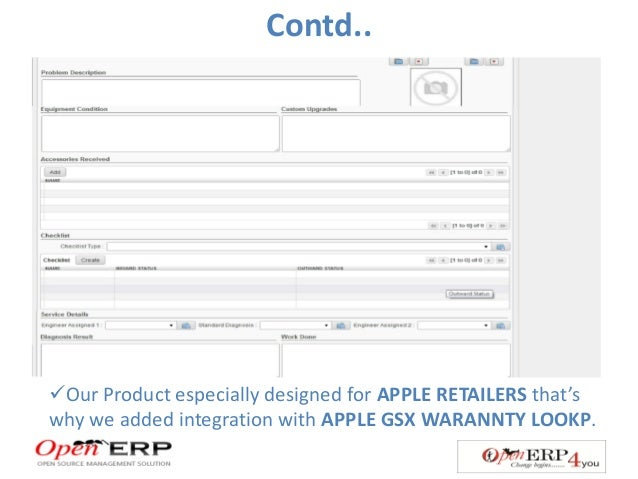 ERP For Retail Stores( special features for Apple Resellers)