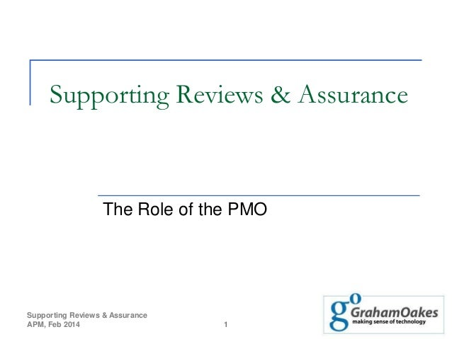 Supporting Reviews & Assurance  The Role of the PMO  Supporting Reviews & Assurance APM, Feb 2014  1