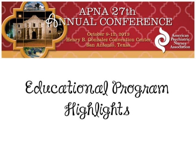 APNA 27th Annual Conference Educational Program Highlights
