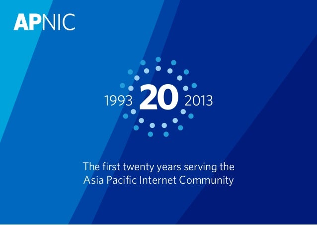 The first twenty years serving the Asia Pacific Internet Community