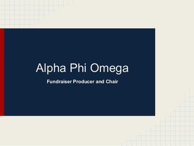 Alpha Phi Omega Fundraiser Producer and Chair