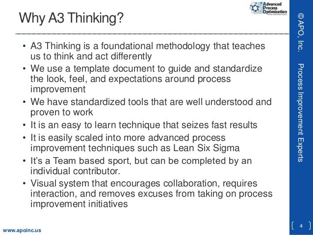 A3 thinking fast and foundational process improvement for A3 process improvement template
