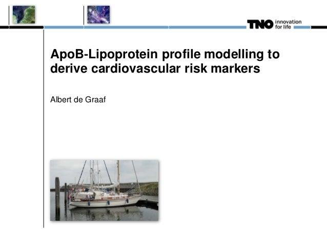ApoB‐Lipoprotein profile modelling to derive cardiovascular risk markers Albert de Graaf