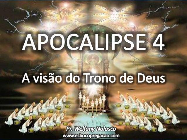 I. APOCALIPSE É REVELAÇÃO DO CÉU, NÃO DESCOBRIMENTO DA TERRA - V. 1-2