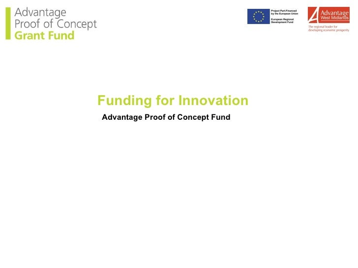 Funding for Innovation Advantage Proof of Concept Fund