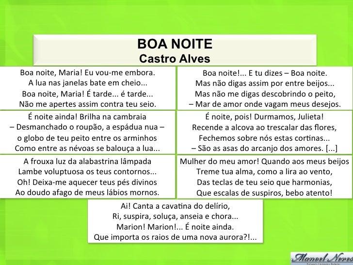 Poemas De Boa Noite: A Poesia De Castro Alves