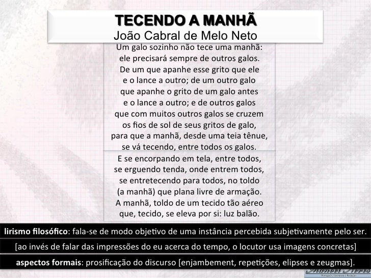A Poesia De João Cabral De Melo Neto