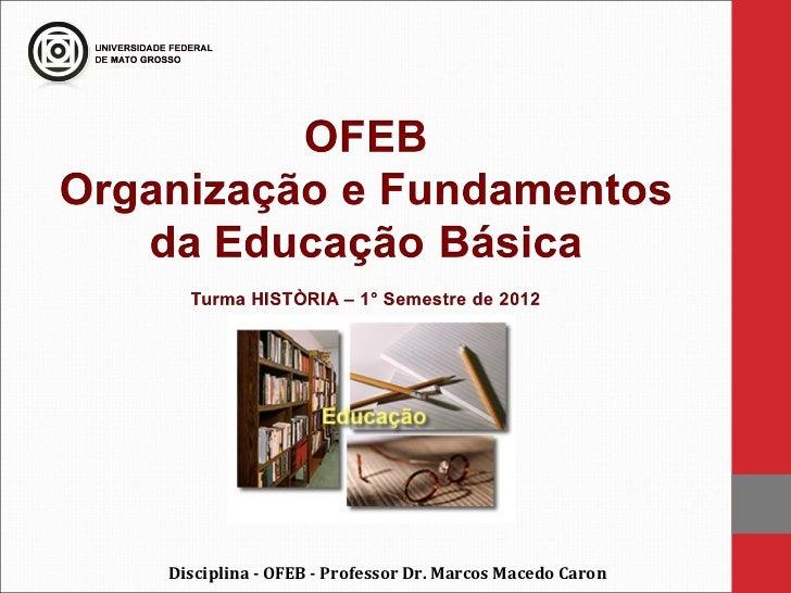 Disciplina - OFEB - Professor Dr. Marcos Macedo Caron