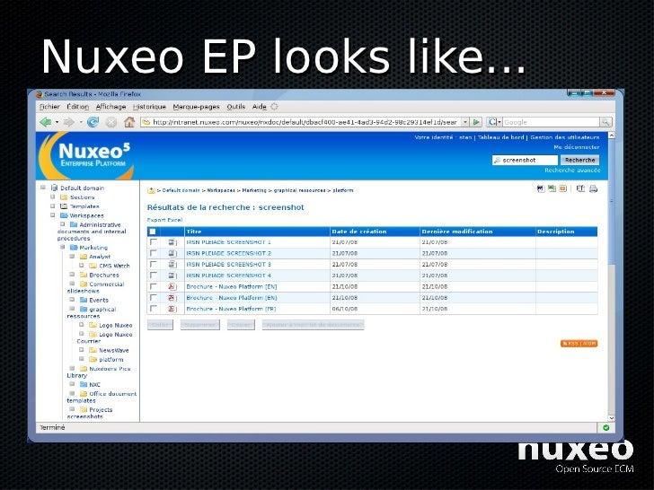 Nuxeo EP looks like...
