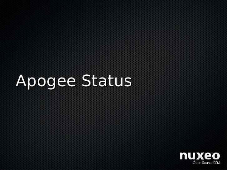 Apogee Status