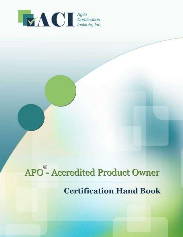 1 Page www.AgileCertifications.org | APO® Certification Handbook