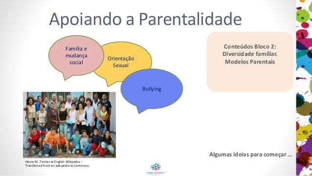Apoiando a Parentalidade Conteúdos Bloco 2: Diversidade familiar. Modelos Parentais Orientação Sexual Familia e mudança so...