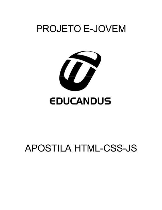 PROJETO E-JOVEM APOSTILA HTML-CSS-JS