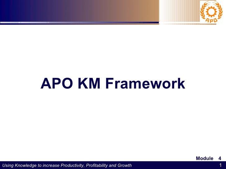 APO KM Framework   APO Workshop on Implementing KM