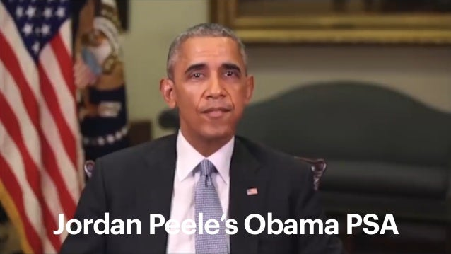 3 Andy Polaine – Design in the age of synthetic realities Image source: Adrian on Unsplash Jordan Peele's Obama PSA