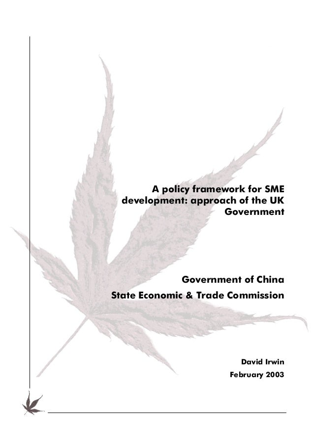 A policy framework for SME development: approach of the UK                     Government             Government of ChinaS...