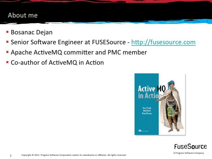 Introduction to ActiveMQ Apollo Slide 2