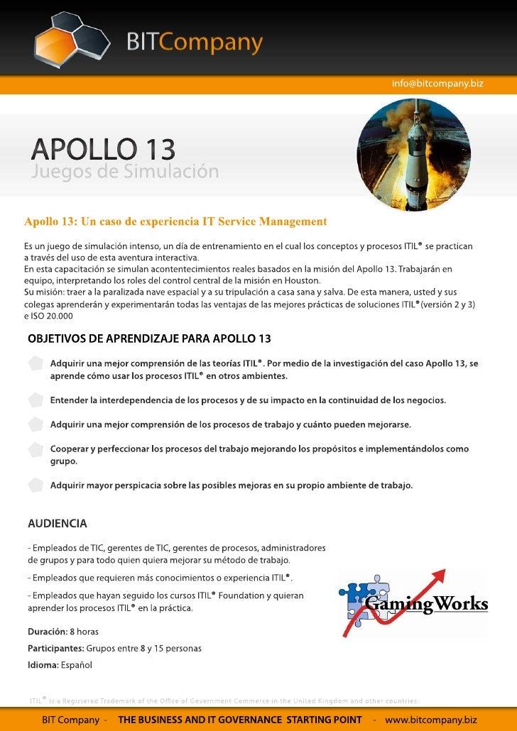 Juego de simulacion: Apolo 13