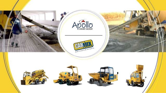 Concrete Handling Equipments Phone: +91-90990 71618 Email: info@apollocarmix.com Website: www.apollocarmix.com  The effic...