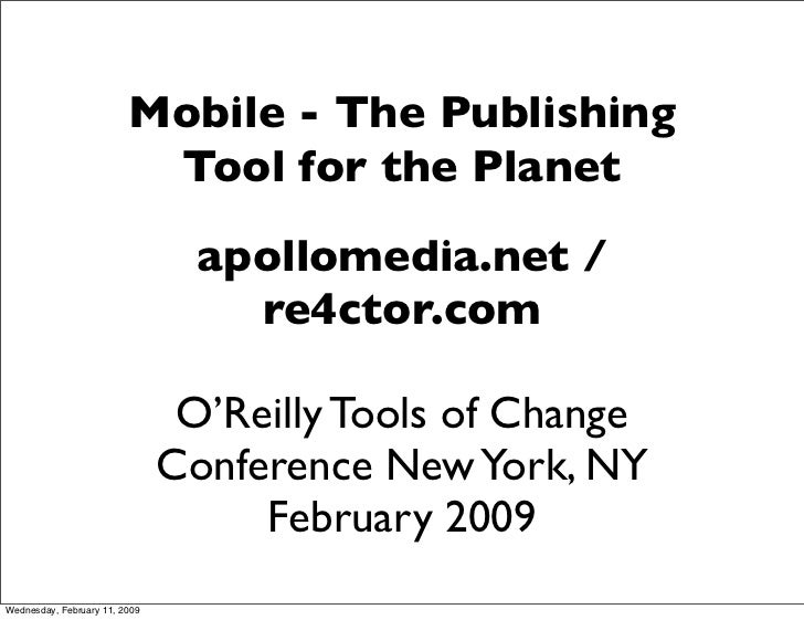 Mobile - The Publishing                           Tool for the Planet                                  apollomedia.net /  ...