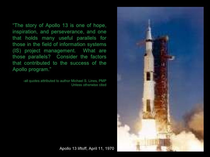 apollo 13 leadership Teamwork and the apollo 13 mission  an effective team needs to be interdependent, with members switching between leadership and team member roles as needed.