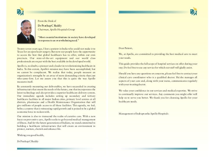 From the Desk of                    Dr Prathap C Reddy                    Chairman, Apollo Hospitals Group                ...