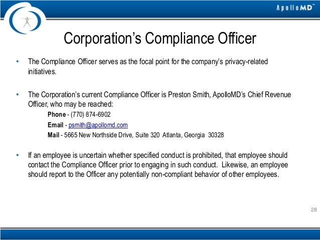 Apollomd compliance training - Qualifications for compliance officer ...