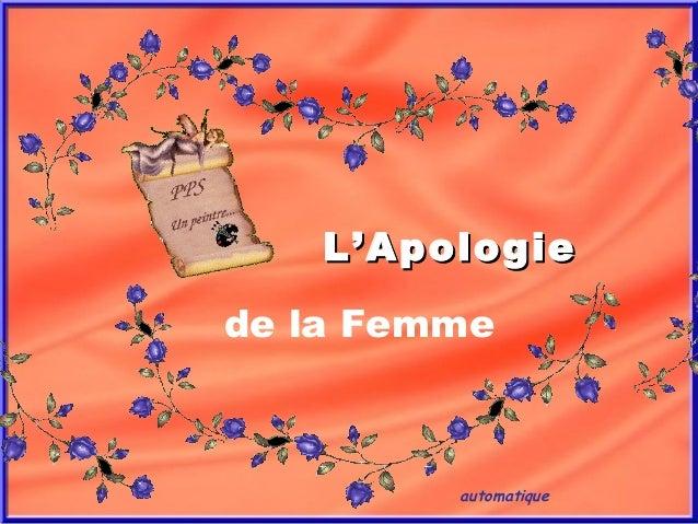 automatique L'ApologieL'Apologie de la Femme