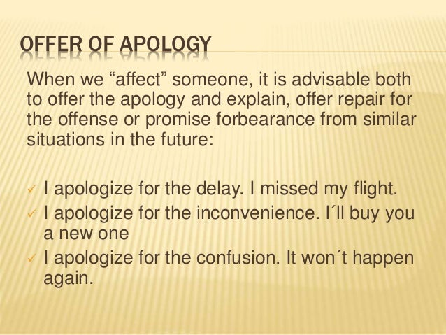 i apologize for the inconvenience