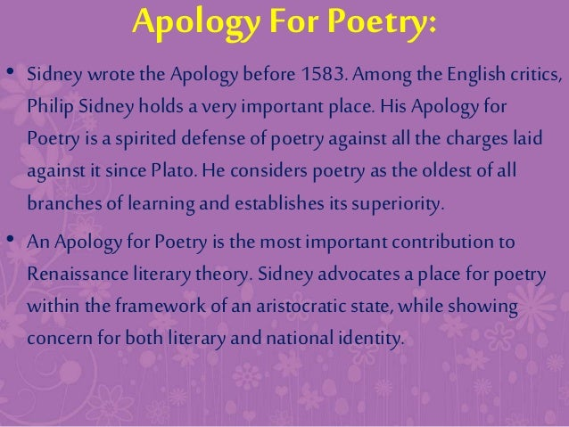 An apology for poetry summary sparknotes
