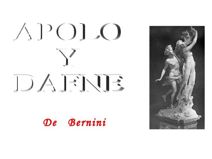 De  Bernini APOLO Y DAFNE