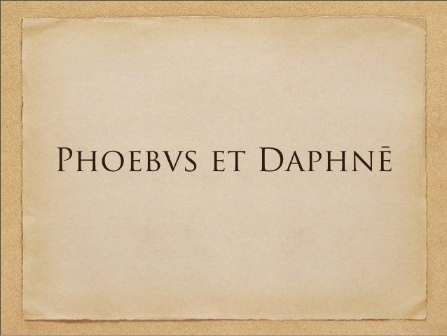 Phoebvs et Daphnē