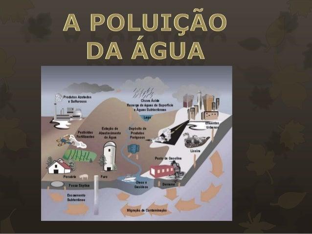 Uma água está poluída, quando a sua composição foi alterada, de tal maneira que a torna imprópria para o fim a que se dest...