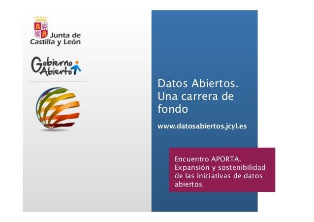¿Qué datos sacamos?  Junta de Castilla y León. www.datosabiertos.jcyl.es  Datos Abiertos. Una carrera de fondo  Lo nuevo, ...