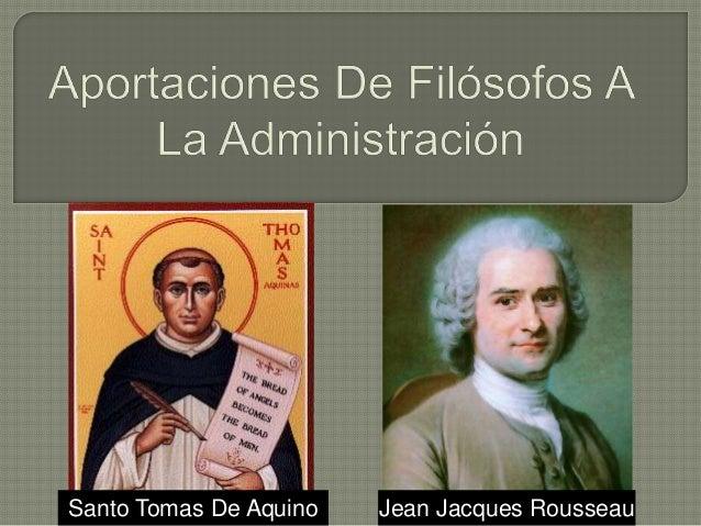 Santo Tomas De Aquino Jean Jacques Rousseau