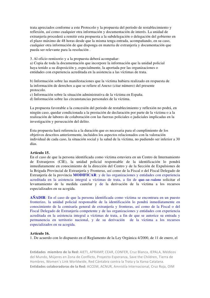 trata apreciados conforme a este Protocolo y la propuesta del período de restablecimiento yreflexión, así como cualquier o...