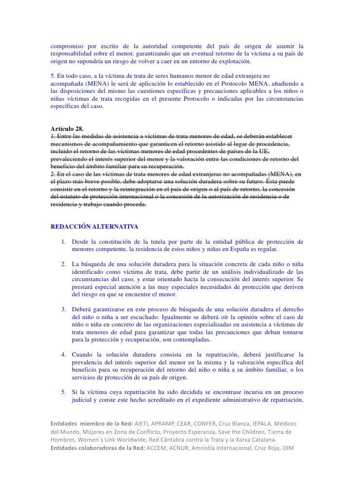 compromiso por escrito de la autoridad competente del país de origen de asumir laresponsabilidad sobre el menor, garantiza...