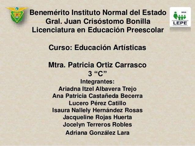 Benemérito Instituto Normal del Estado Gral. Juan Crisóstomo Bonilla Licenciatura en Educación Preescolar Curso: Educación...