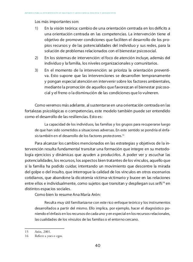 50 Aportes para la intervención en maltrato y abuso sexual infantil y adolescente Si bien la metodología elegida es la int...
