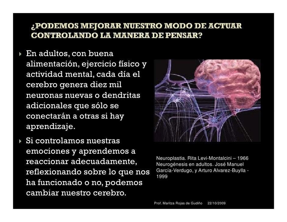 En adultos, con buenaalimentación, ejercicio físico yactividad mental, cada día elcerebro genera diez milneuronas nuevas o...